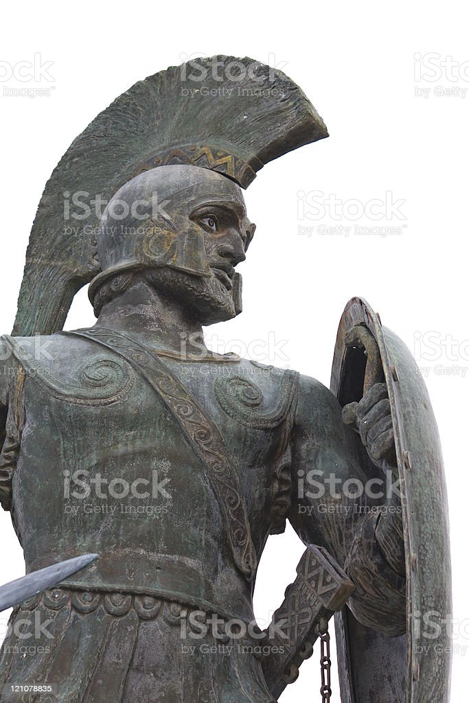 Leonidas statue in Greece stock photo