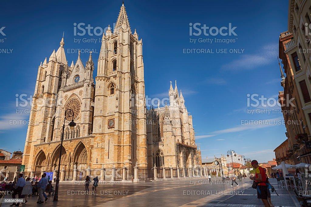 Leon's Kathedrale auf der Plaza de Regla, Leon – Foto