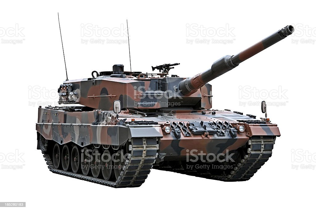 Leopard 2A4 tank stock photo