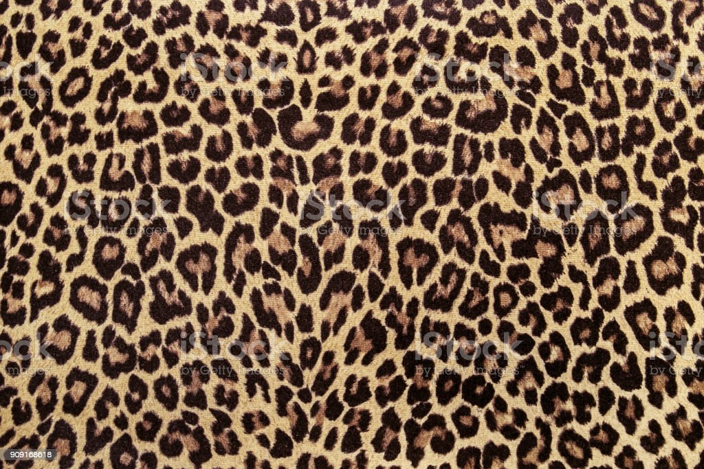 Leopard Effect Fabric Pattern Background Sample Stock Photo Download Image Now Istock