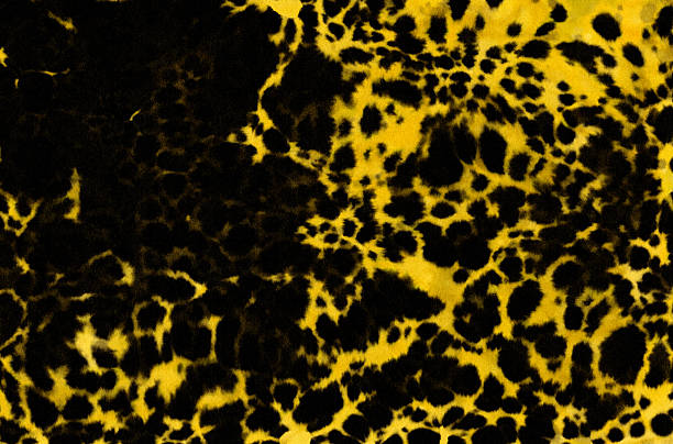 leopard fur texture watercolor interior background - animal markings stock photos and pictures