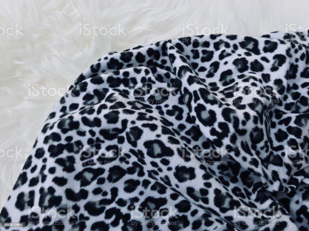 Leopard print cloth stock photo