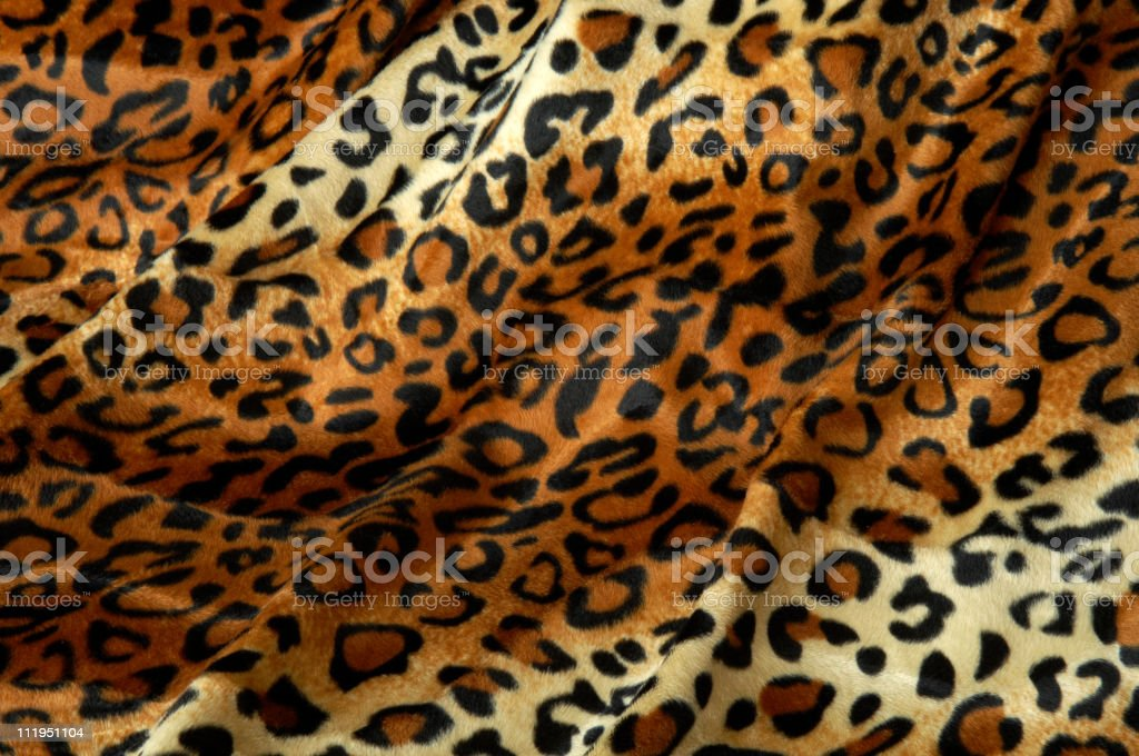 Leopard Print Fabric Faux Fur Background stock photo