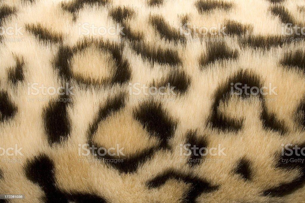 Leopard Print Fur Fabric stock photo