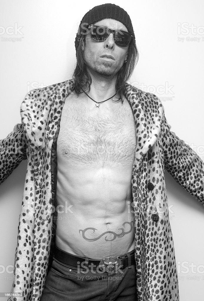 Leopard Print Man royalty-free stock photo