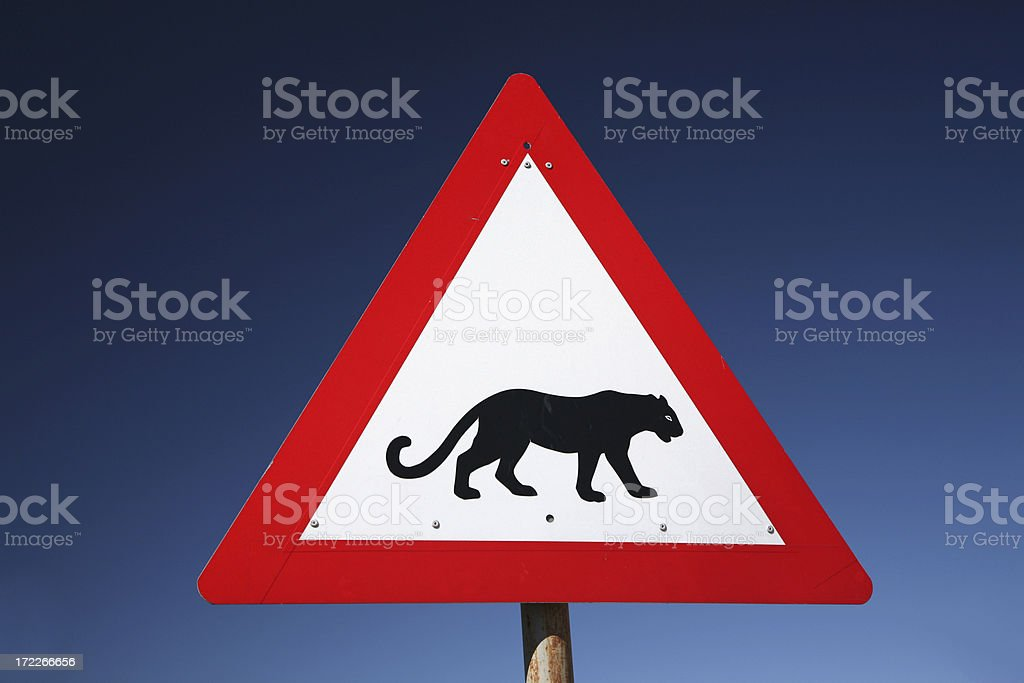 Leopard sign royalty-free stock photo
