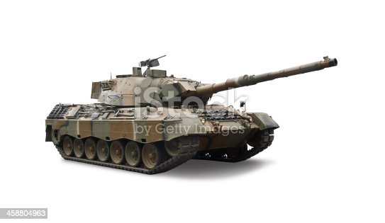 Leopard 1V tank isolated on white