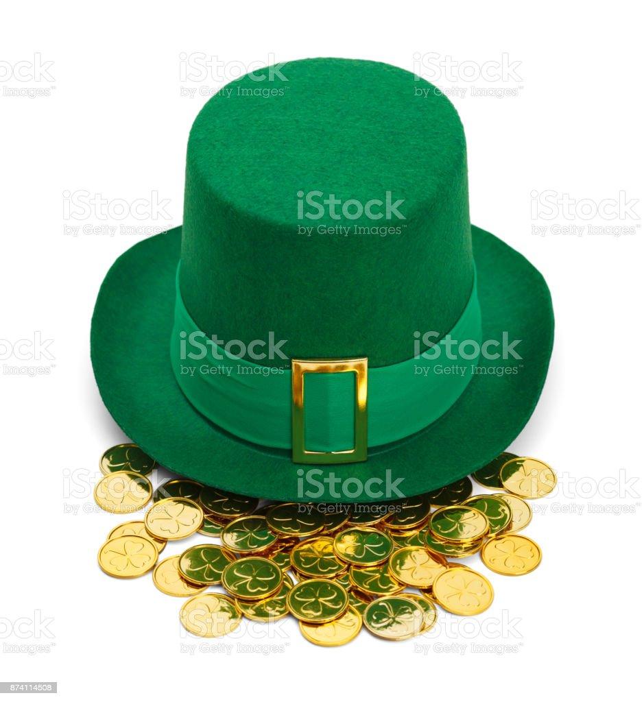 Leprechaun Gold Hat stock photo
