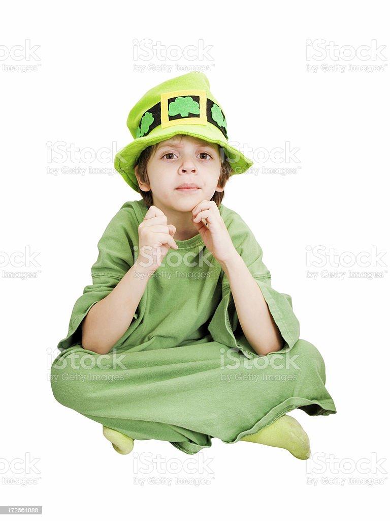 Leprechaun Kid Looking royalty-free stock photo