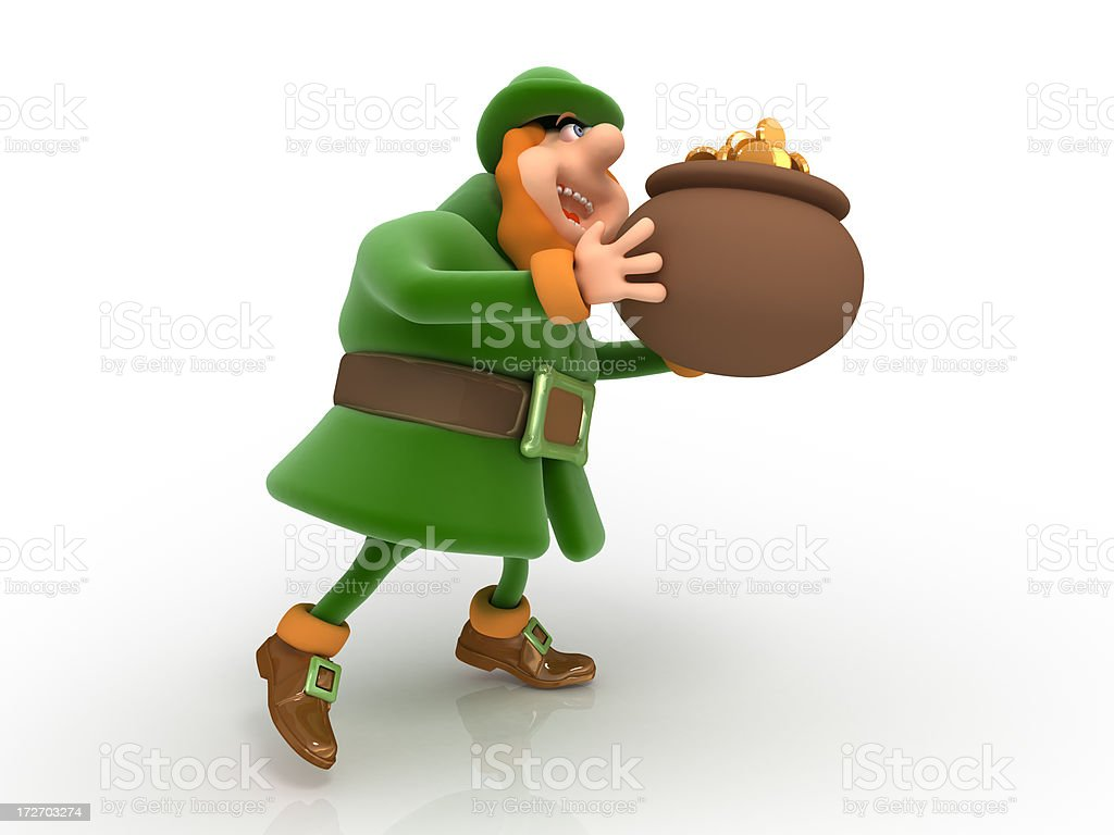 Leprechaun royalty-free stock photo