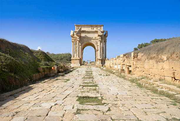 leptis magna - roman stock photos and pictures