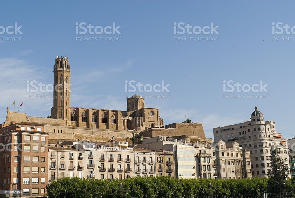 Lerida (Catalonia), Gothic cathedral (Seu Vella) stock photo