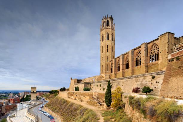 lerida, spain gothic cathedral - lleida стоковые фото и изображения