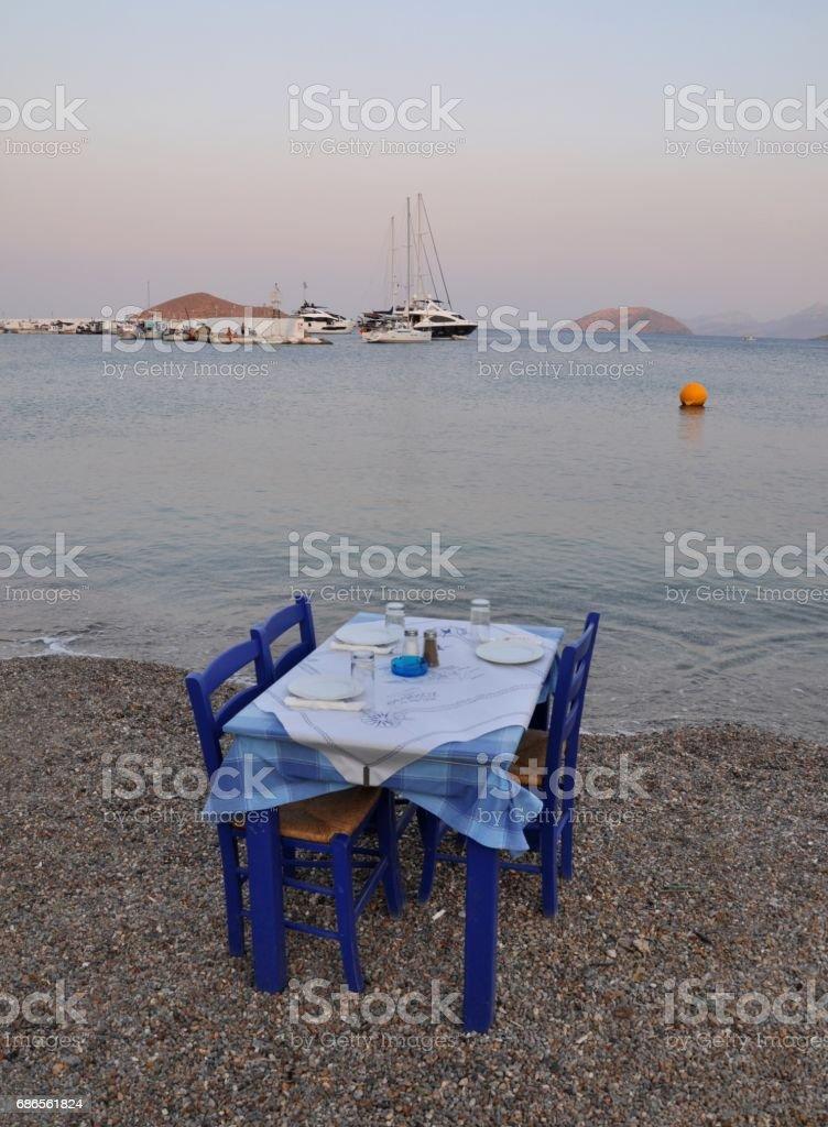Leros Island. The greek island. zbiór zdjęć royalty-free