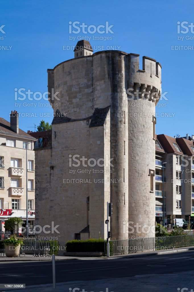 Leroy Tower in Caen Caen, France -  August 06 2020: The Tour Leroy, sometimes called Tour Guillaume-le-Roy, is one of the main vestiges of the fortifications of Caen. Ancient Stock Photo