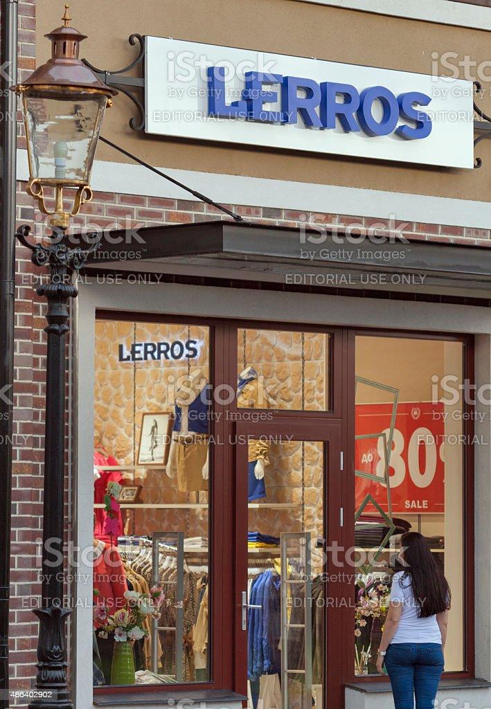 Lerros Store In Manufactura Ukraine First Outlet Village Stock Photo ... c85332d4c4fcd