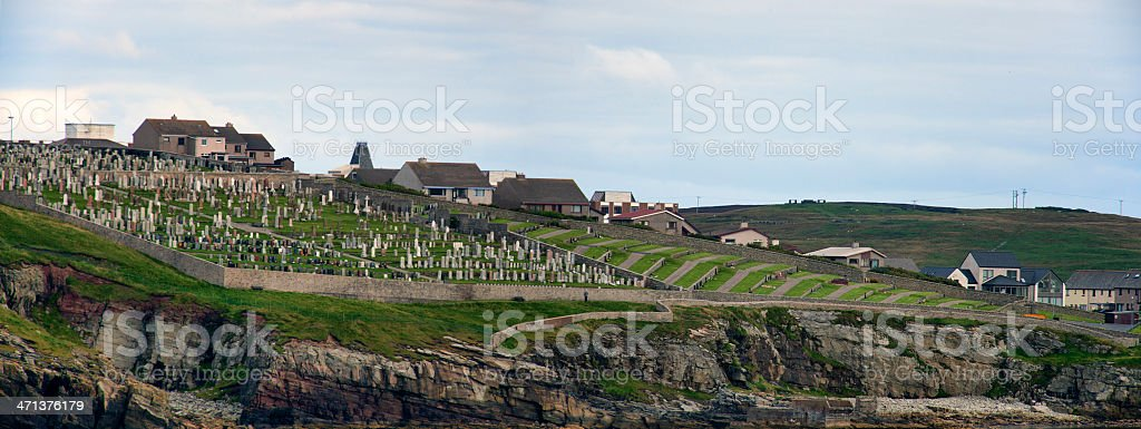 Lerwick Cemetery on the Shetland Islands royalty-free stock photo