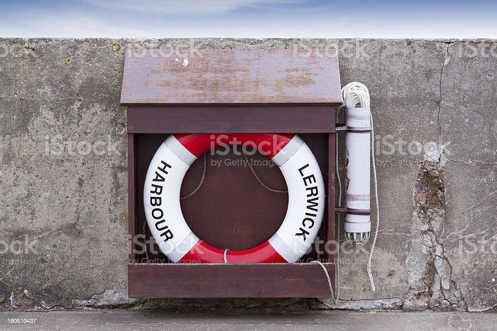 Lerwick Harbour royalty-free stock photo