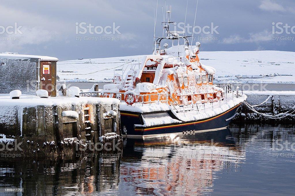 Lerwick Lifeboat stock photo