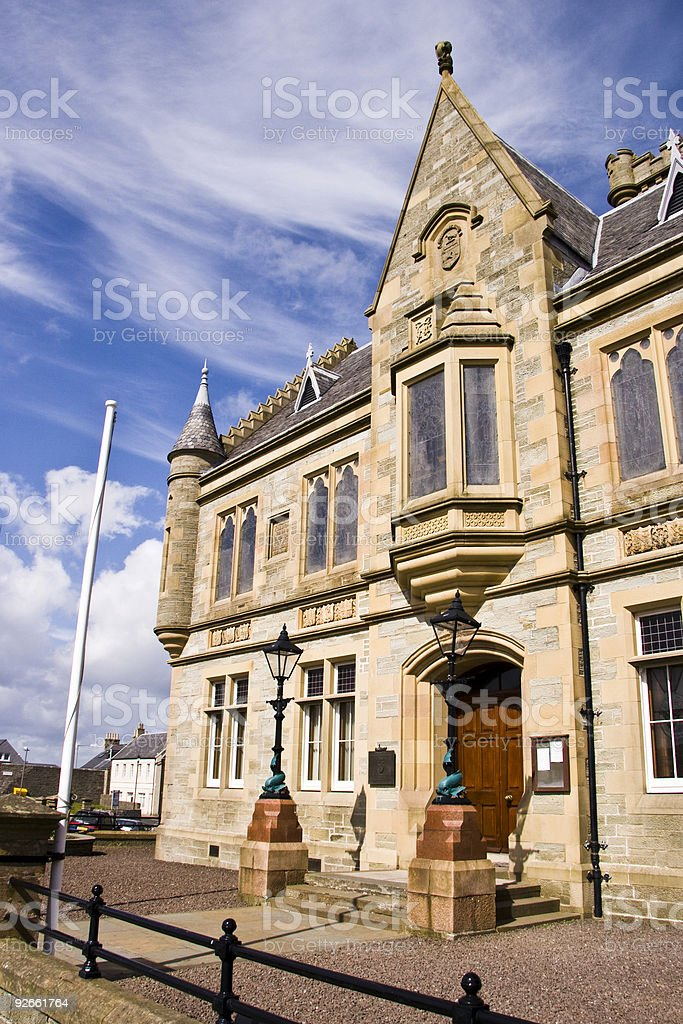Lerwick Town Hall stock photo