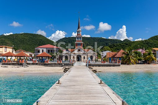 Les Anses d'Arlet, Martinique, FWI - The church on the seafront