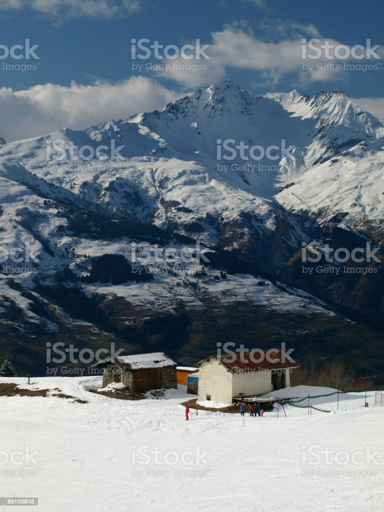 Les Arcs 1800,Bourg St.Maurice,France stock photo