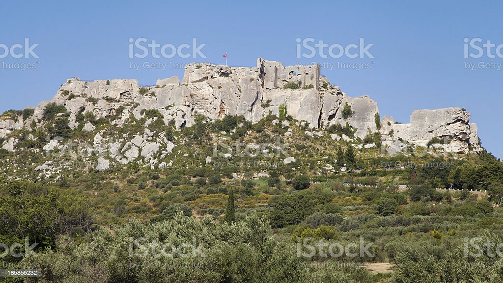 Les Baux de Provence panorama stock photo