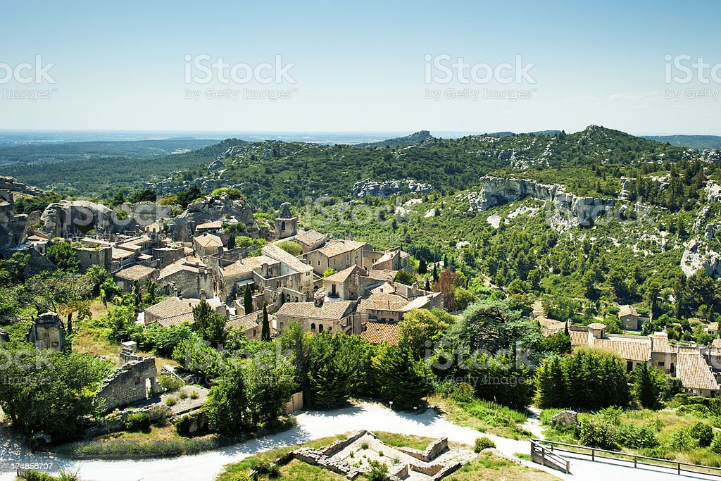 Les Baux de Provence stock photo