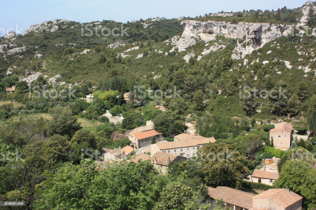 Les Baux de Provence - Tourist place stock photo