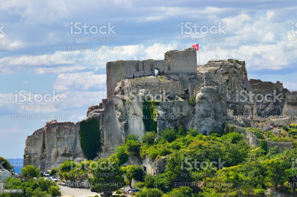 Les Baux, France stock photo