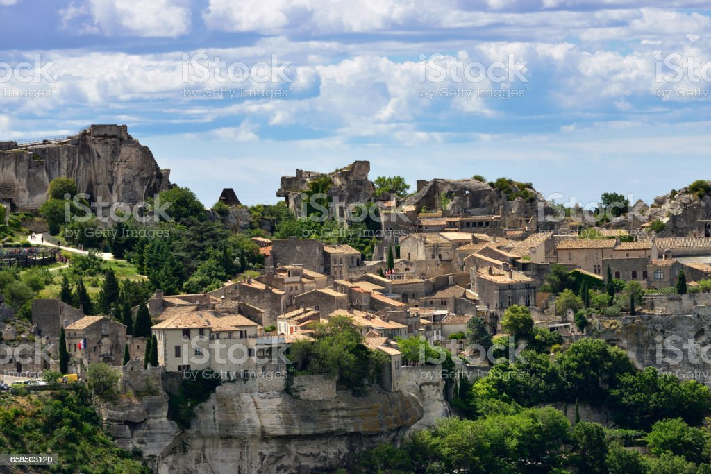 Les Baux stock photo