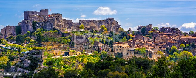 Les Baux-de-Provence village, spectacular located in Alpilles mountains, Provence, France