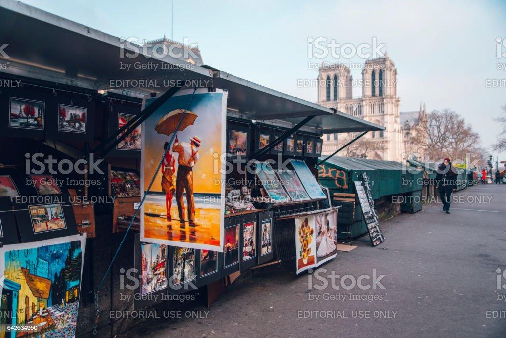 Les Bouquinistes, Paris stock photo