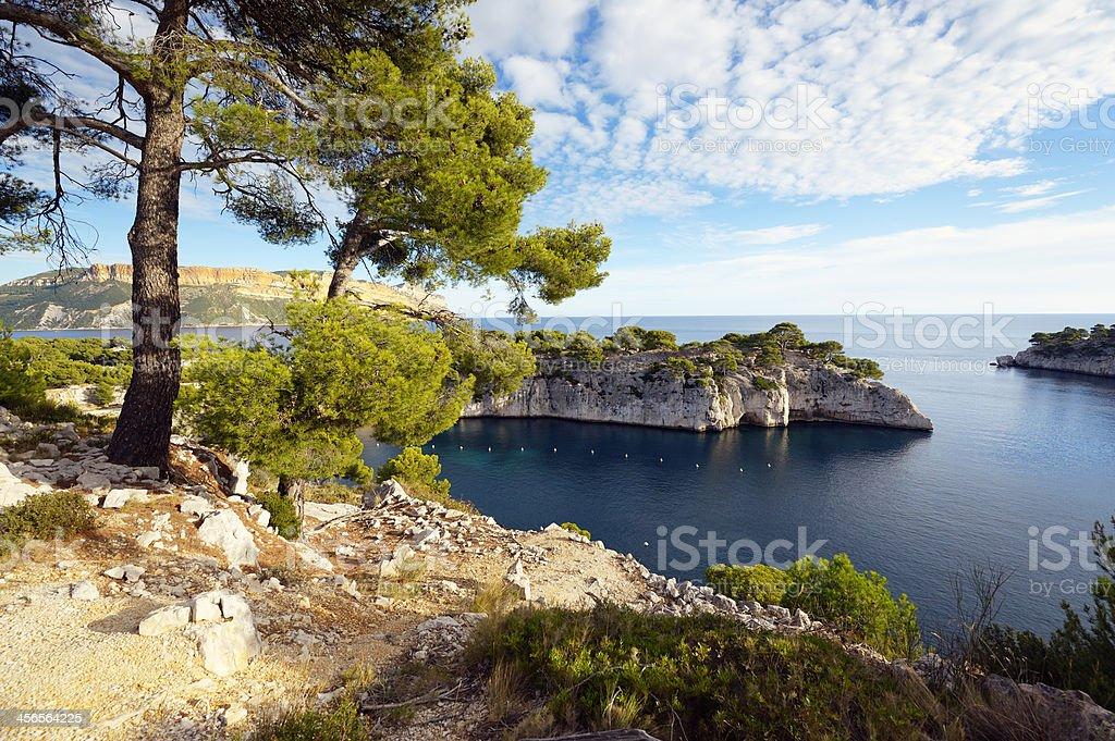 Les Calanques de Cassis at the Cote D'Azur royalty-free stock photo