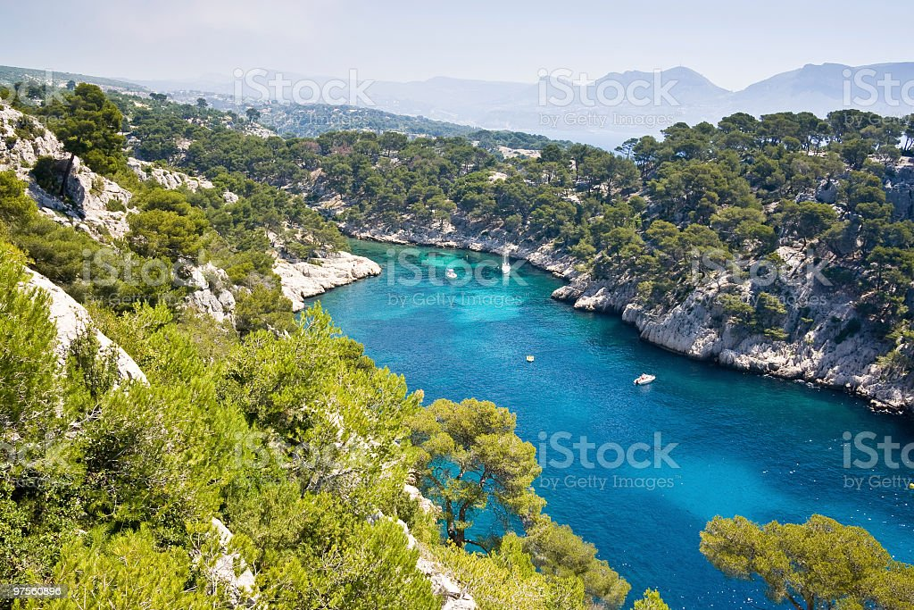 Les Calanques on the French Riviera stock photo