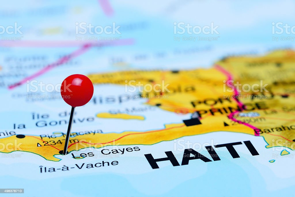 Les Cayes Pinned On A Map Of America Stock Photo More Pictures of