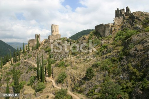 Three of the four castles near the French village Lastours, built in the 13th century.