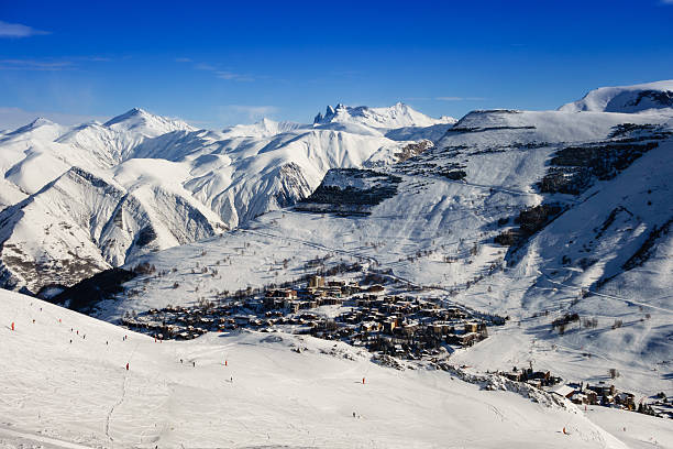 Les Deux Alpes Ski Resort in the French Alps​​​ foto