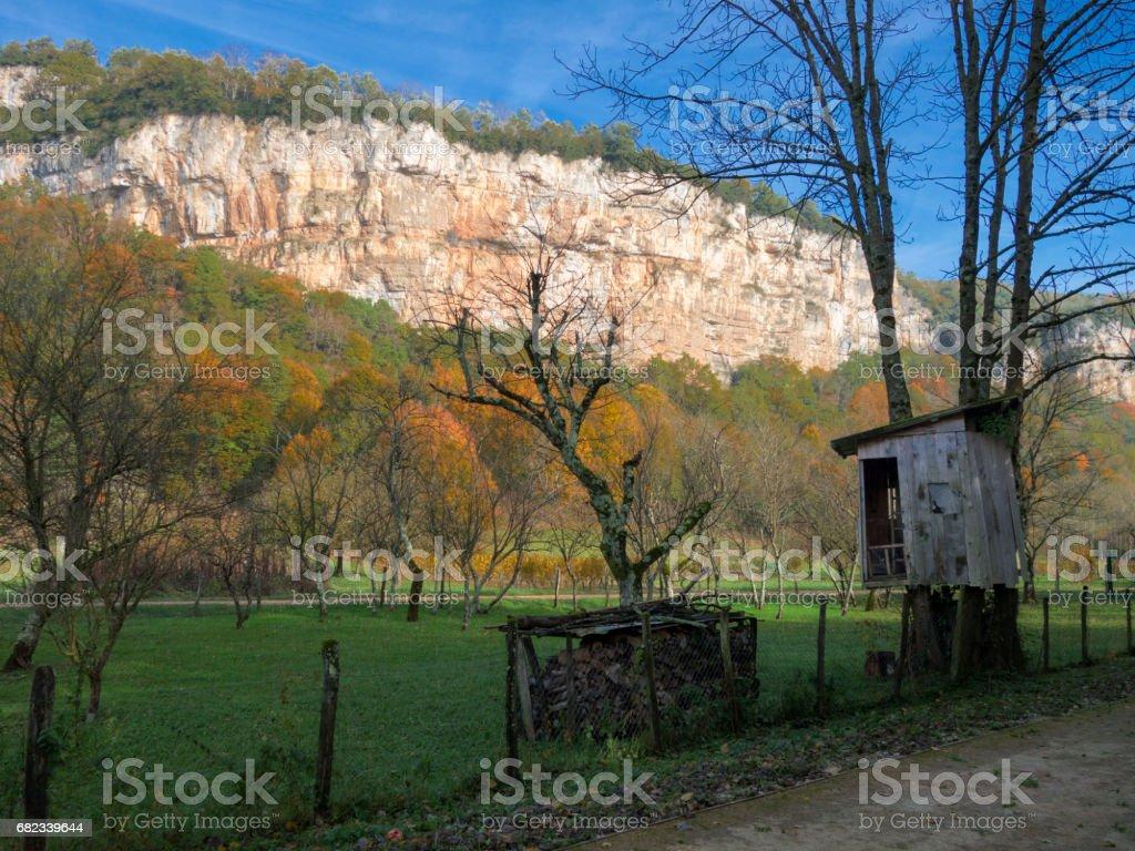 Les falaises du Bugey. zbiór zdjęć royalty-free