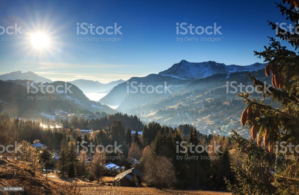 Les Getz Mountain view stock photo