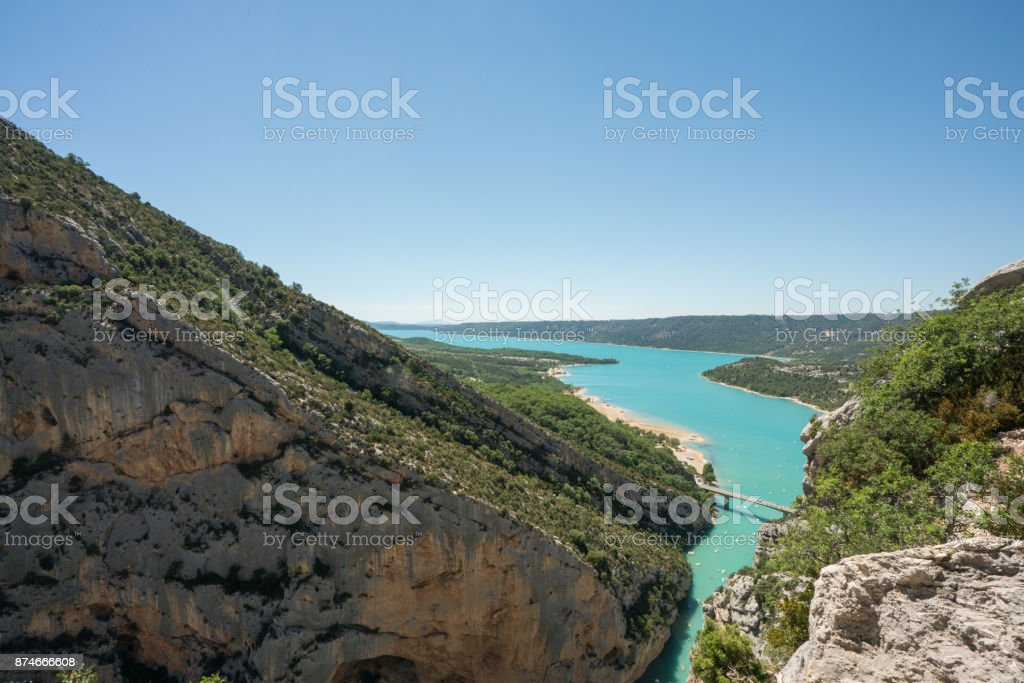 Les Gorges du Verdon : The most beautiful canyon in Europe stock photo