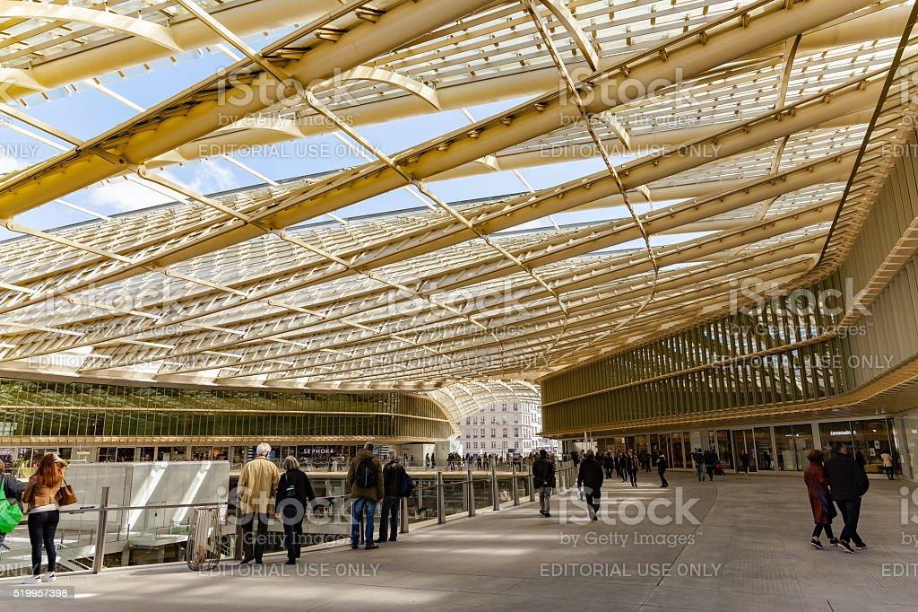 Les Halles canopy architecture stock photo