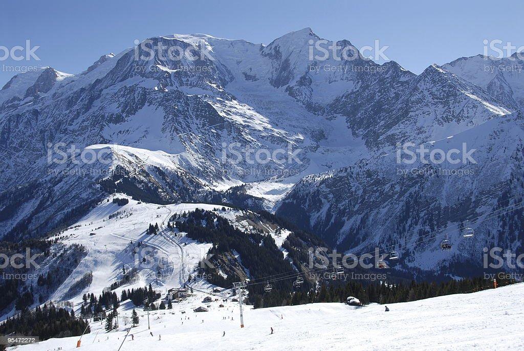 Les Houches' Slopes royalty-free stock photo
