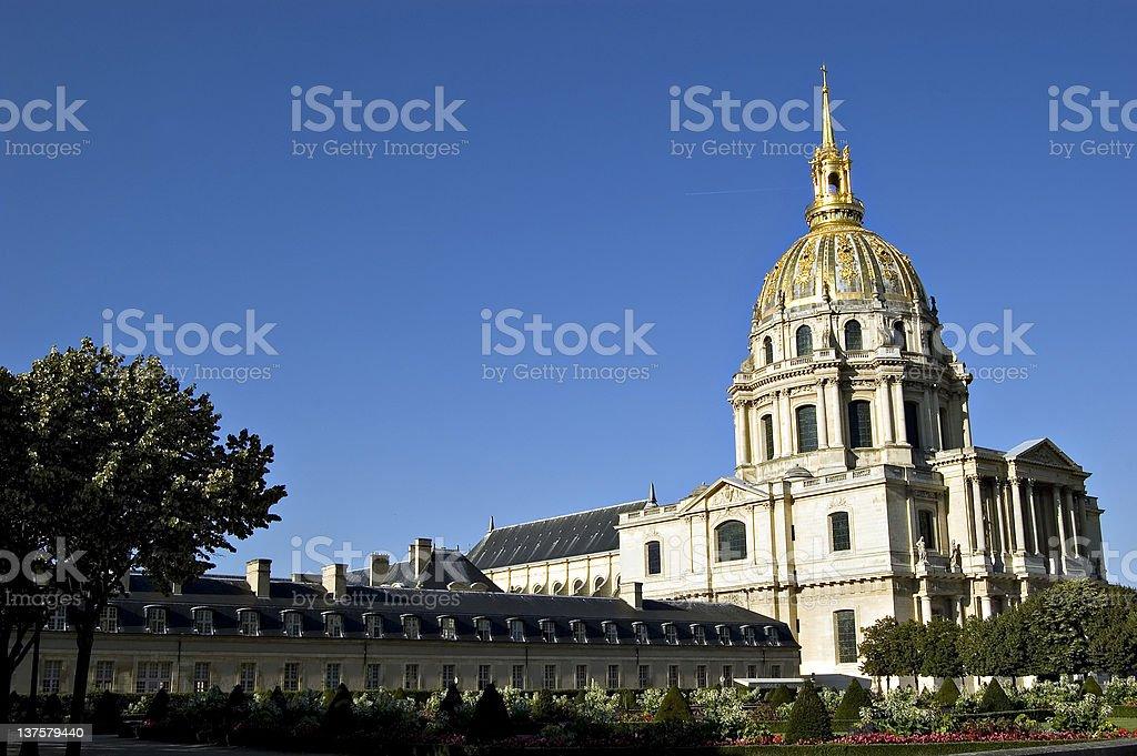 Les Invalides in Paris. France stock photo