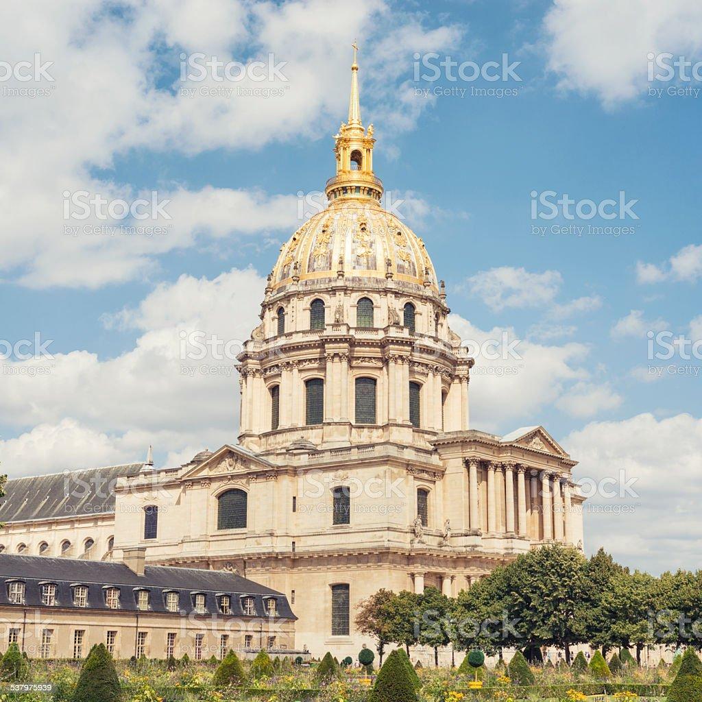 Les Invalides in Paris France stock photo