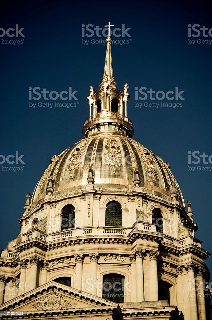 Les Invalides Monument Paris royalty-free stock photo