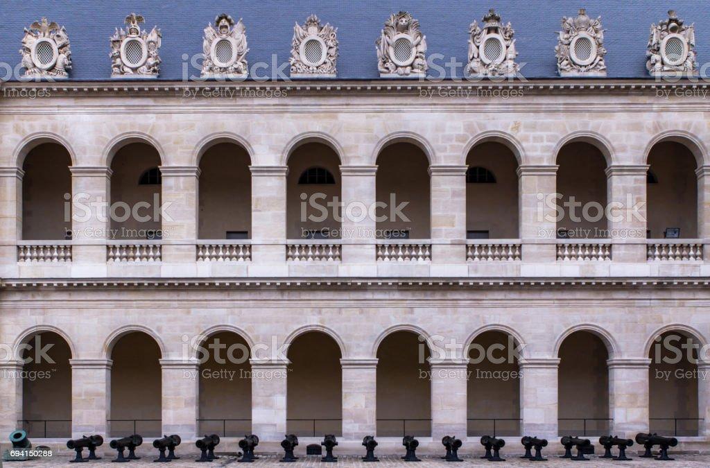 Les Invalides palace, Paris stock photo