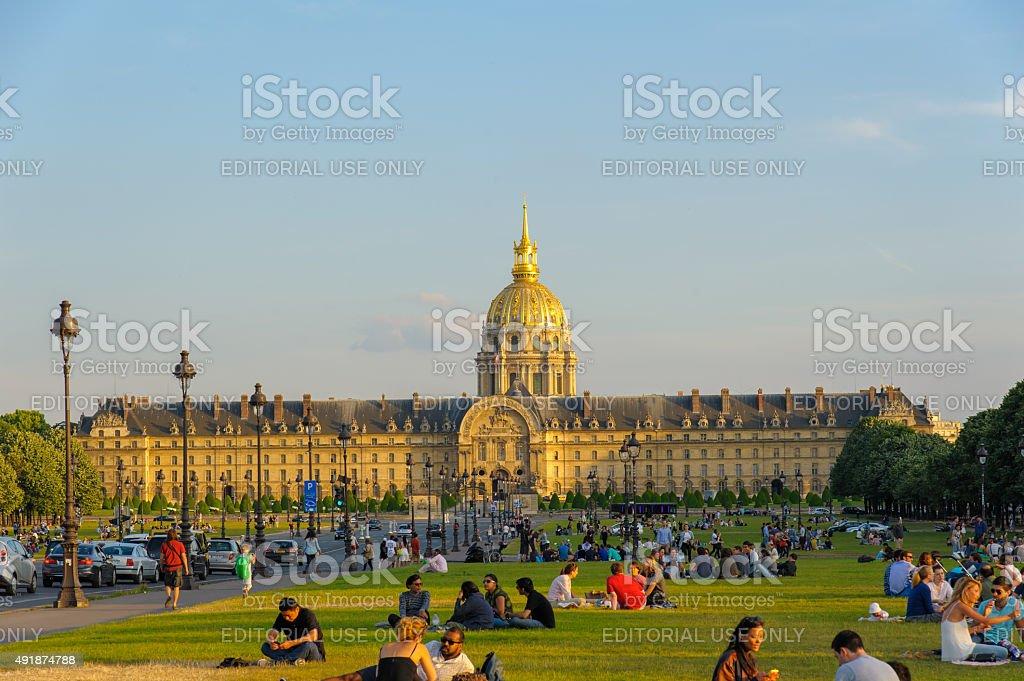 Les Invalids in Paris, France stock photo