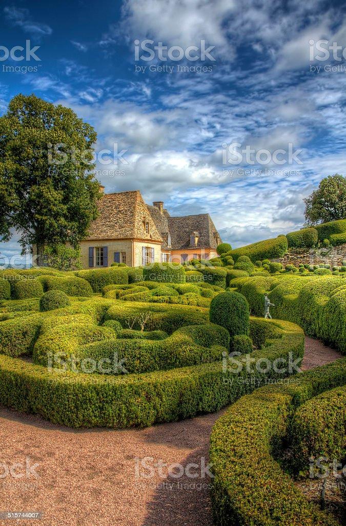 Les Jardins de Marqueyssac stock photo
