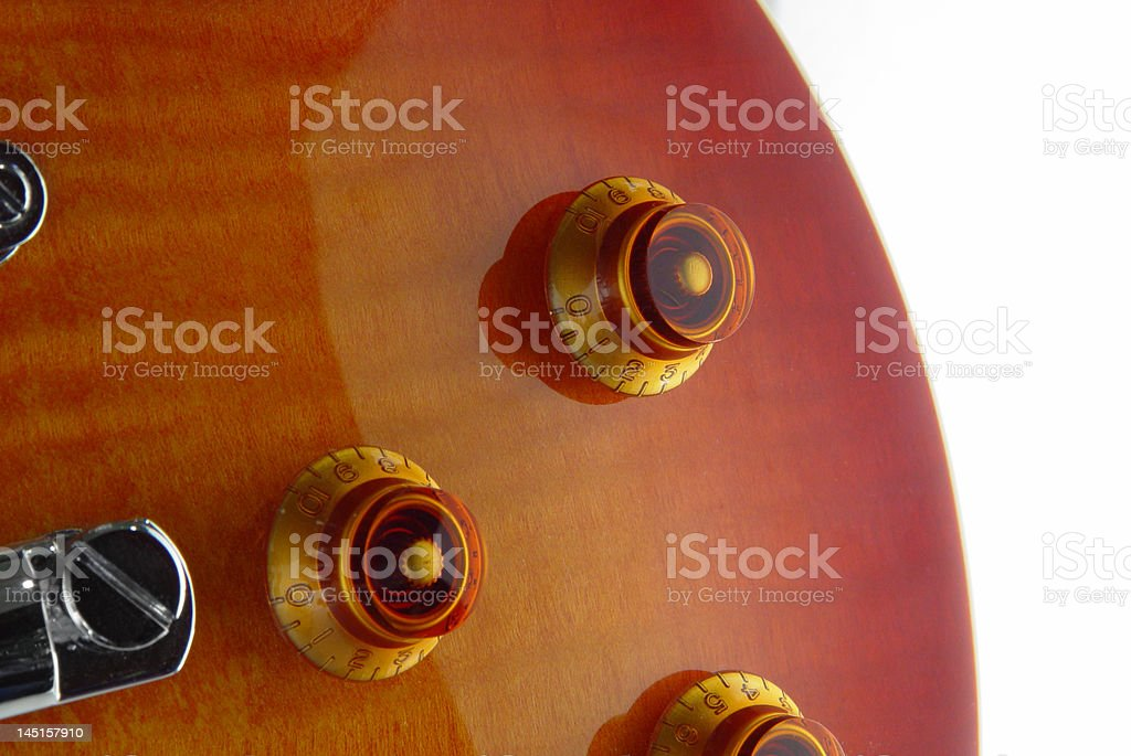 Les Paul electric guitar stock photo
